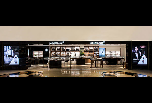 Blanc space: The reinvigorated 110-sqm Montblanc concept boutique on the ground level of Rustan's Makati features an open layout and innovative product displays.