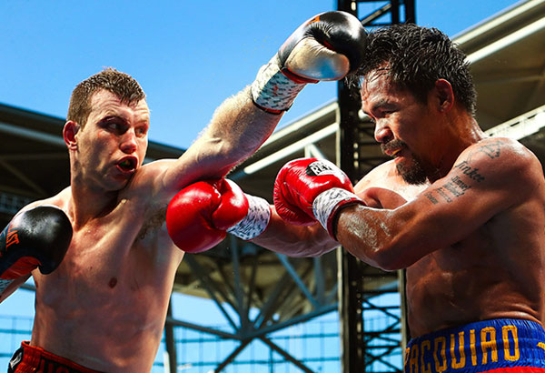 The camp of Jeff Horn still wants to bring Manny Pacquiao back Brisbane, Australia for a rematch. | File photo