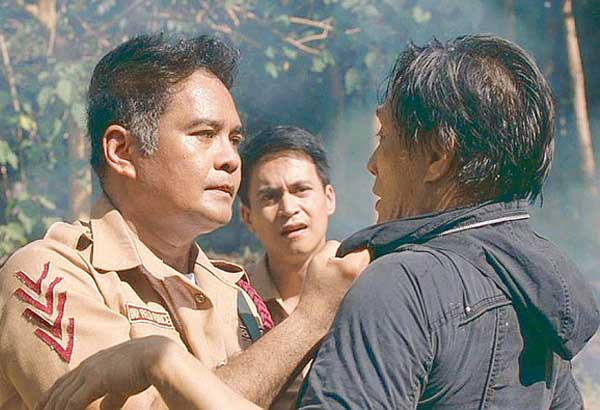 From left: John Arcilla, Arnold Reyes and Manuel Acquino in a scene from the movie. Brilliant output from a young filmmaker