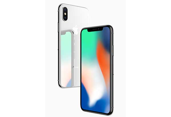 The iPhone X (courtesy of Apple.com)