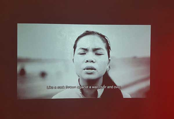 """Video installation from Kiri Dalena's """"Arrays of Evidence"""" exhibition"""