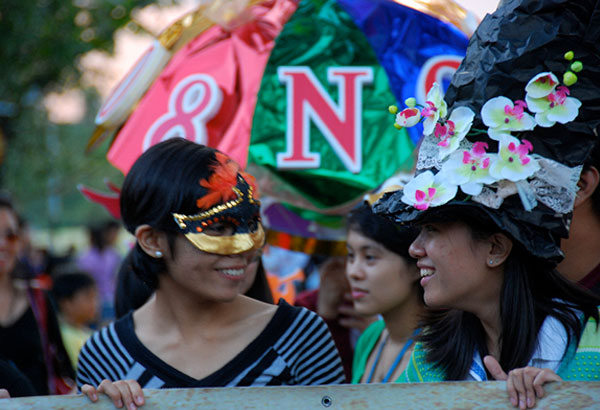 A scene from UP Diliman's Lantern Parade