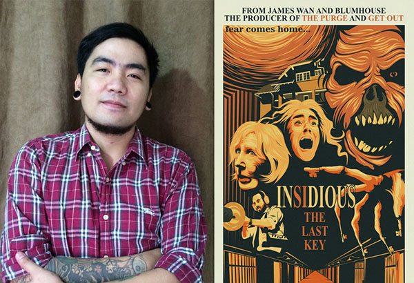 Filipino artist is Adriann Delmo (left) and his winning poster. Released
