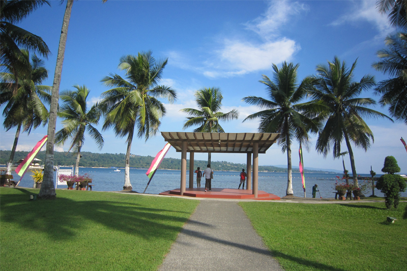 Outdoor weddings are held at the gazebo with the sea as a backdrop. Julie Cabatit-Alegre