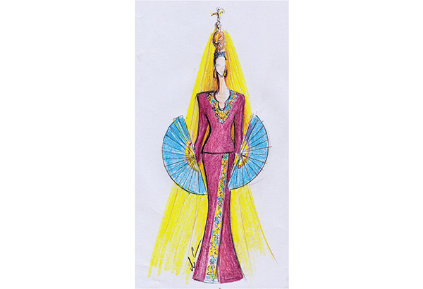 A beauty queen wearing a Philippine sash should wear a