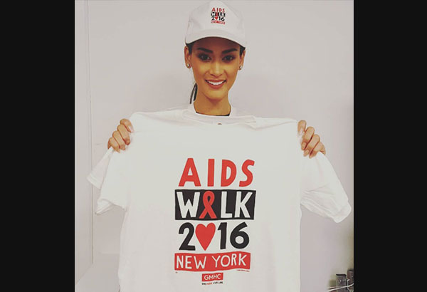 During the AIDS walk held in New York, Wurtzbach said she hopes the next administration will be active in promoting HIV/AIDS awareness. Instagram/Pia Wurtzbach