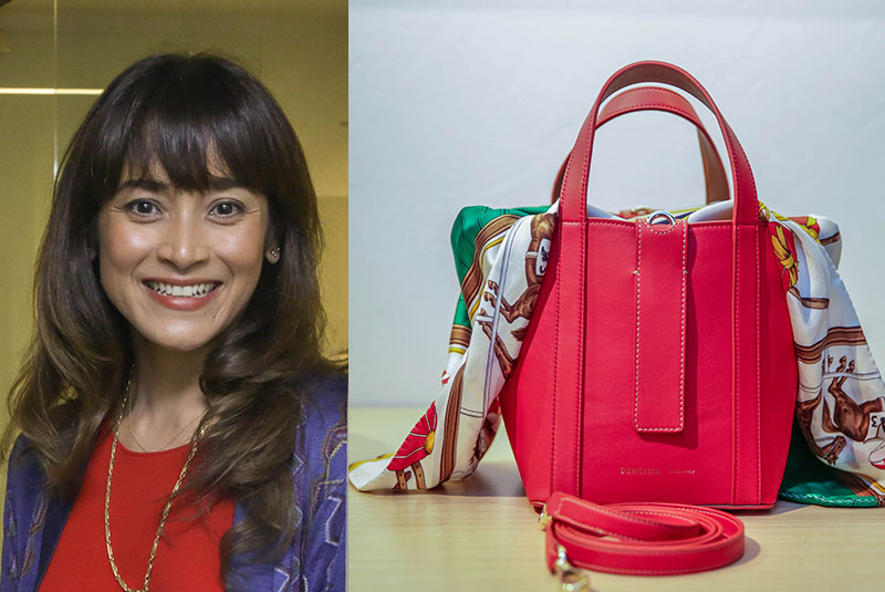 """Mai Mai Cojuangco designs a bag collection called Demetria for Idée Clothing Store: """"Because I like challenges and I like making beautiful things."""" Photos by GEREMY PINTOLO"""