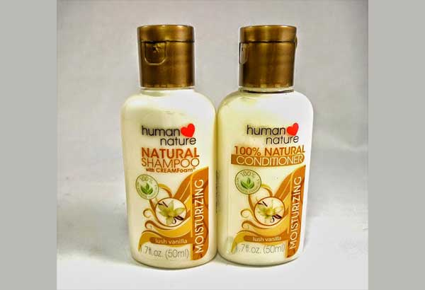Human Nature's sulfate-free, all-natural moisturizing shampoo is good for your hair and kind to the environment.
