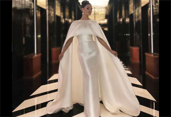 Miss Universe 2017 Demi-Leigh Nel-Peters wearing a gown by Filipino designer Rajo Laurel for Front Row Universe Charity Gala. Instagram/Demi-Leigh Nel-Peters