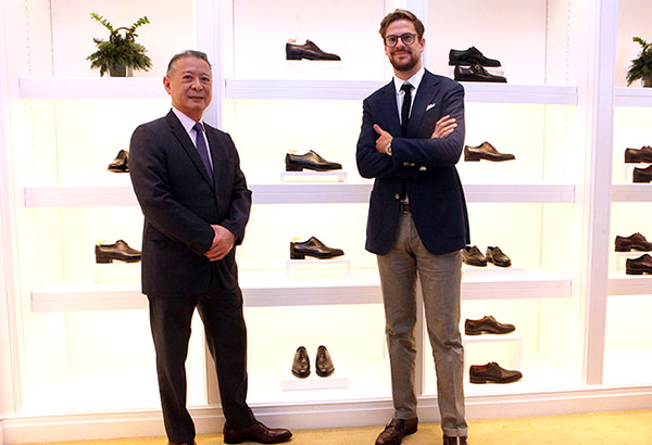 Hermès country manager Mario Katigbak and Nicholas Holt, regional director for John Lobb Asia Pacific and China Photos by Bening Batuigas