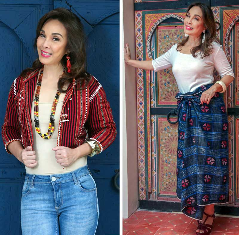ce3847229cd Handwoven jacket (left photo) from the Gaddang community of Mountain  Province