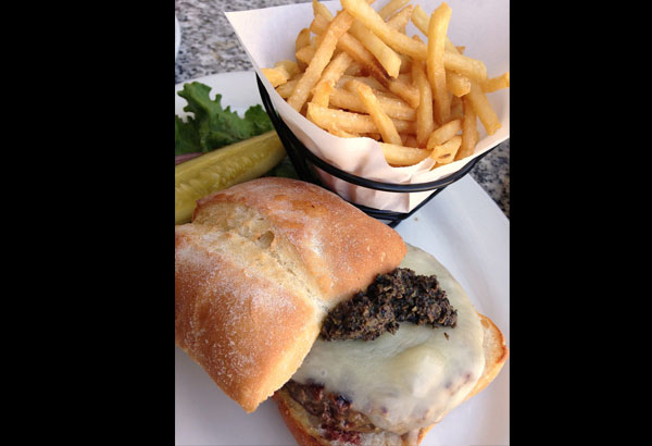 The Black Jack burger made with Black Angus beef, Monterey Jack ...