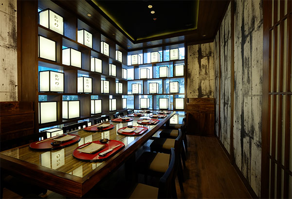 Ogawa traditional restaurant brings a piece of japan to for Vip room interior design
