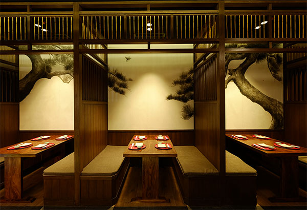 Traditional japanese restaurant interior