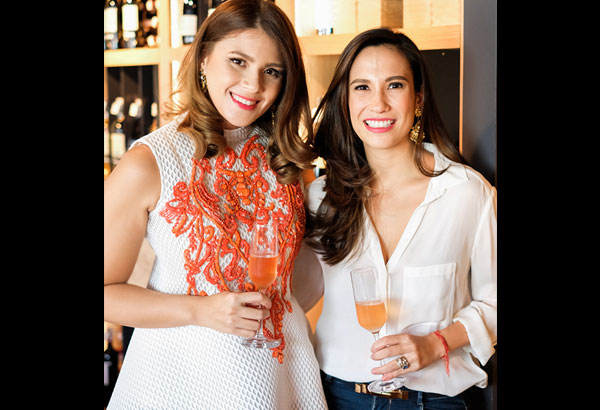 STAR Lifestyle columnist/TV host Stephanie Zubiri-Crespi (right) and writer/editor Juana Manahan-Yupangco tackle all things wine in their new blog Wine Lips. Photo by ERNIE PENAREDONDO
