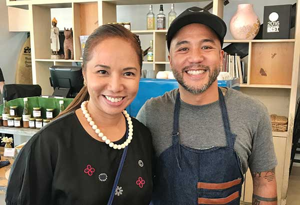 Chef JP Anglo, the rock star at Sarsa, with his partner, sister Tracie Anglo-Dizon.