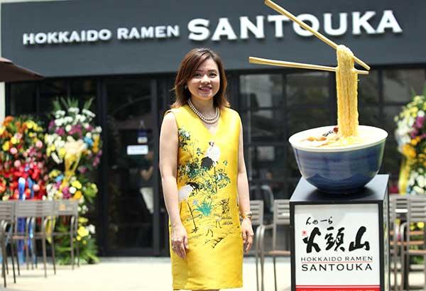 Anna Liza Uy Lim, president of Hokkaido Ramen Philippines, Inc. Photos by JUN MENDOZA