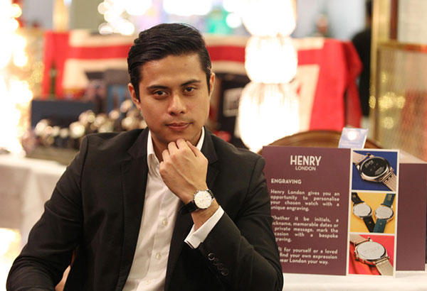 """Manuel Dacanay, marketing director of Henry London in the Philippines, says, """"I would describe Henry London watches as… I wouldn't say Scandinavian Minimalist… but they are clean, crisp, and have lots of character."""" Photos by JUN MENDOZA"""