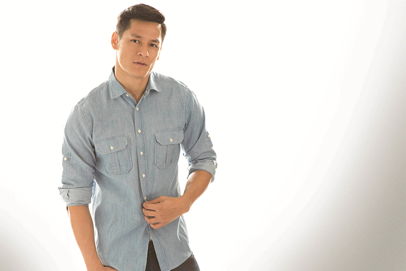 """Dad, model, and """"Pinoy Big Brother"""" housemate Hideo Muraoka SM Men/Released"""