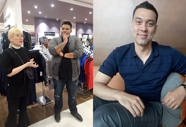 From left: Preview magazine fashion director Daryl Chang giving style advice to Luigi Muhlach, son of actors Aga Muhlach and Janice de Belen; PBA star and 2017 Governor's Cup Player of the Conference Greg Slaughter. Philstar.com/Jan Milo Severo