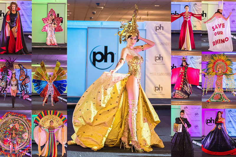 Contestants from 93 countries, including Miss Philippines Rachel Peters (center) presented their national costumes for Miss Universe 2017 preliminaries. Photos from Miss Universe Organization.