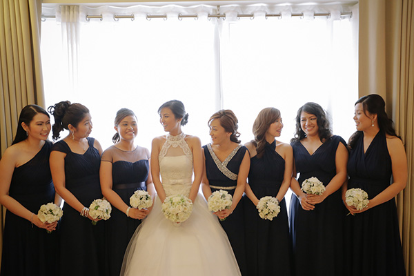 Embarrassing Entourage Gowns Were Allowed At My Wedding The Bride With Her Bridesmaids And Maid Of Honor