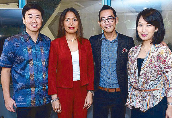 Stop, look, and listen: At the relaunch of Eye Mo are Weitarsa Hendarto, VP, Consumer Healthcare and Wellness, Combiphar; Glenda Arceno, GM, LF Asia Philippines, Healthcare Division; Earl Jayona, marketing manager, Eye Mo, LF Asia Philippines; Farah Feddia, brand manager, Combiphar.