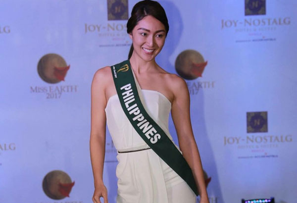 """Down-to-earth beauty: """"I think it's not about the outside appearance. Being fit and healthy helps you build a good immune system,"""" says Miss Philippines Earth Karen Ibasco."""