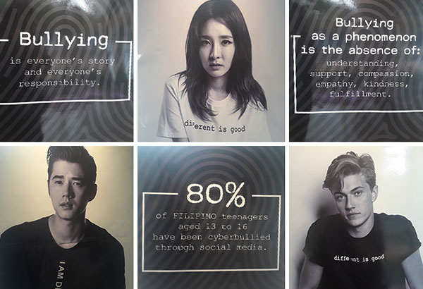 Stars like Lucky Blue Smith, Sandara Park and Mario Maurer recently joined hands to campaign against bullying.