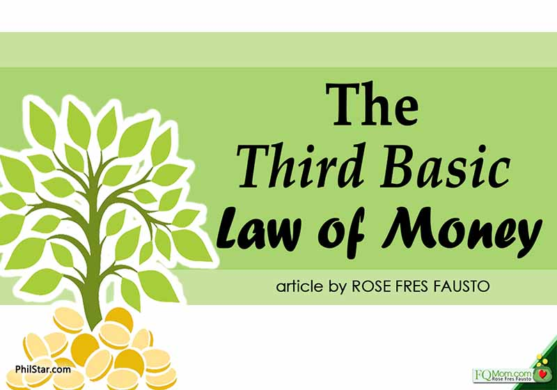 The third basic law of money is the law that separates those who are just able to get by from those who are able to accumulate considerable wealth.