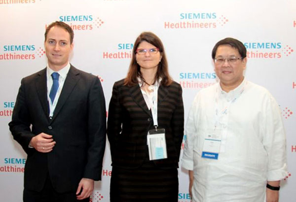 Digitalizing healthcare: Enno Nehrbass, Siemens Healthineers head of strategy and head of Digital Health Services, Asia Pacific; Elisabeth Staudinger, Siemens Healthineers president, Asia Pacific; and Mike Tan, Siemens Healthineers president, Philippines.
