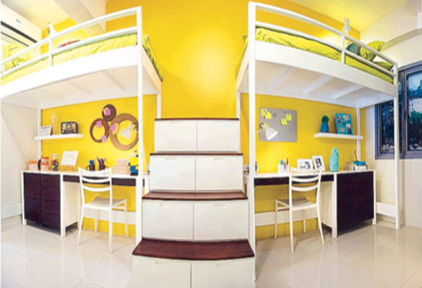 Designing living spaces for students modern living for Interior design double deck bed