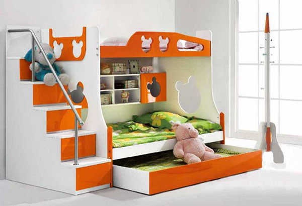 Image gallery modern double deck bed for Small room design ideas double deck