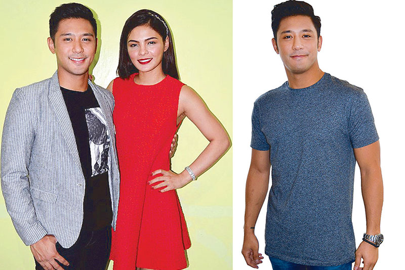 …which also stars Rocco Nacino who recently had a serious talk with ex-girlfriend Lovi Poe (left) leading to a 'closure' after their break-up more than a year ago. — PHOTOS BY VER PAULINO
