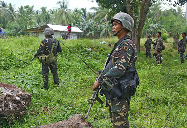 Combined government troops and militiamen have driven back to the Liguasan Marsh more than a hundred Bangsamoro Islamic Freedom Fighters (BIFF) rebels who tried to occupy two villages in Pigkawayan, North Cotabato the other day. AFP