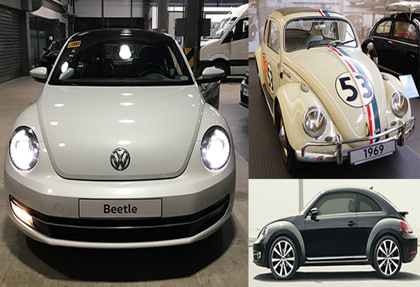 First love never dies: The 2017 VW Beetle Club Edition and Herbie from The Love Bug (right)