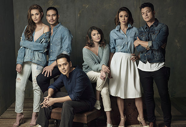 Star Magic's six pillars: Piolo Pascual, Jericho Rosales, John Lloyd Cruz, Jodi Sta. Maria, Angelica Panganiban, and Bea Alonzo.