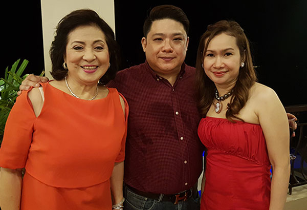 Aida Uy with son Troy and his wife Sheila