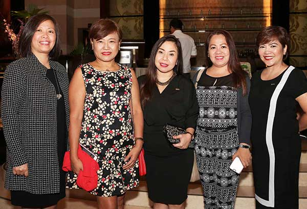 Area director of sales and marketing Ann Olalo, Delia Suplig of Timex Philippines, Janine Matig-a , Mira May Dacalos of Knowles Electronics and Arabella Barz