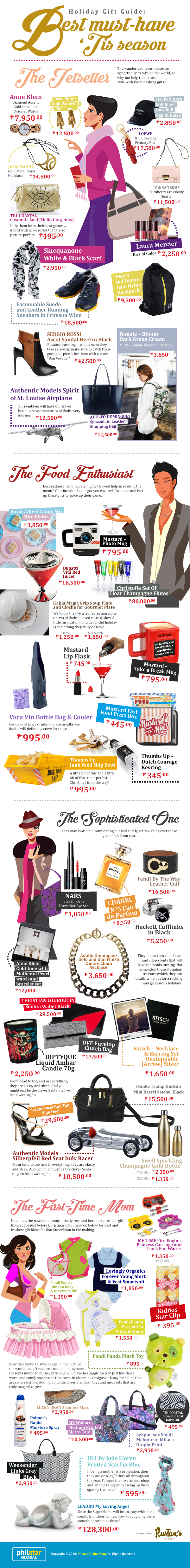 Rustan's holiday infographic
