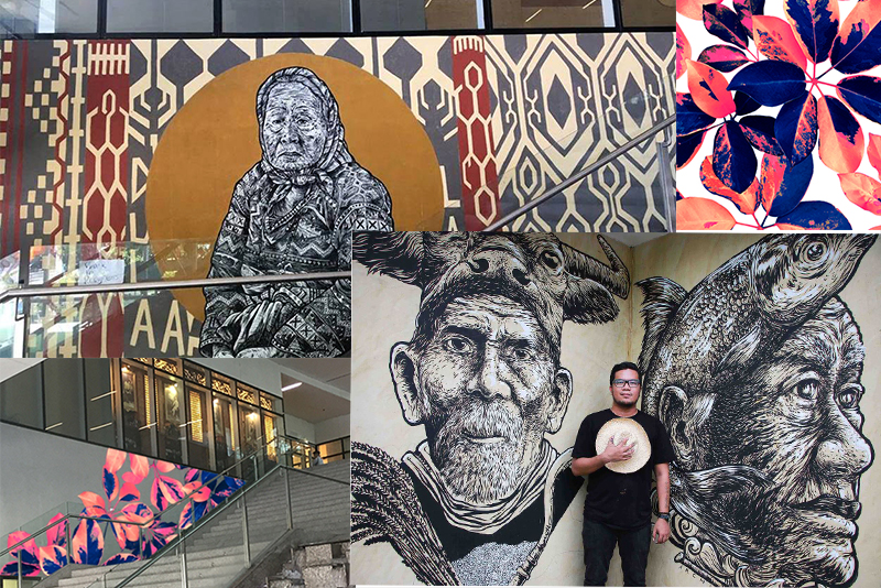 Artworks by independent artists like Mercedes Olondriz and Archie Oclos now adorn the public areas of a mall in Bonifacio Global City. Photo release