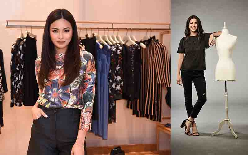Miss Universe Philippines 2016 Maxine Medina (left) and New York-based fashion designer RebeccaMinkoffwearing skinny jeans (right) Photo release