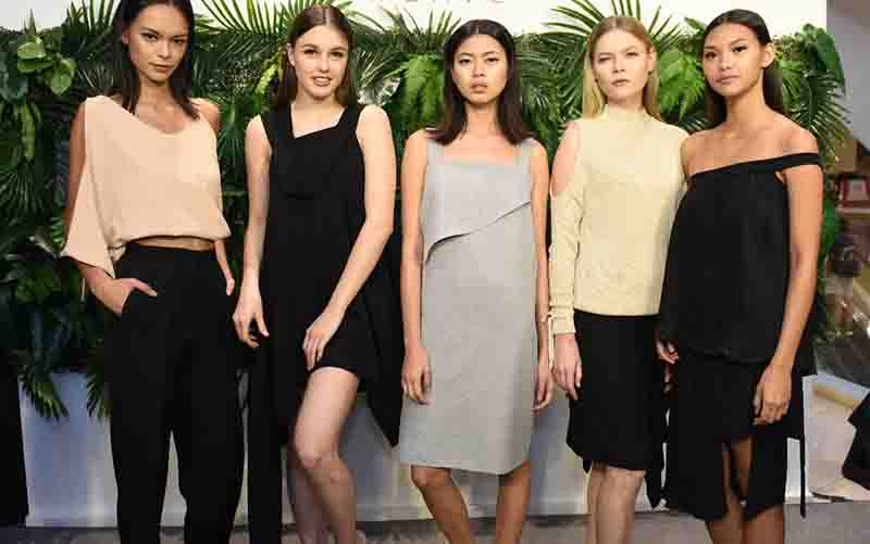Models in the latest collection of Filipino clothing label Weave.