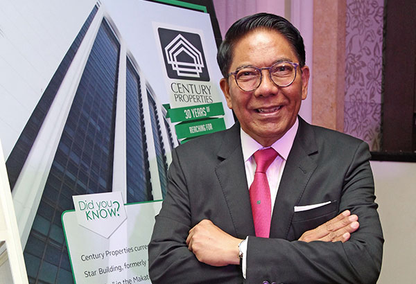 """Ambassador Jose """"Joey""""Antonio, chairman and CEO of Century Properties and President Rody Duterte's newly-appointed special envoy to the US."""