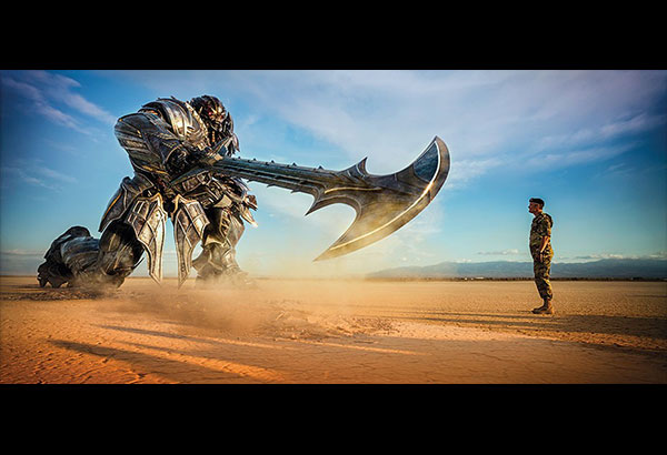 Get medieval: Transformers adds the battle axe to its arsenal of weapons in the latest outing.