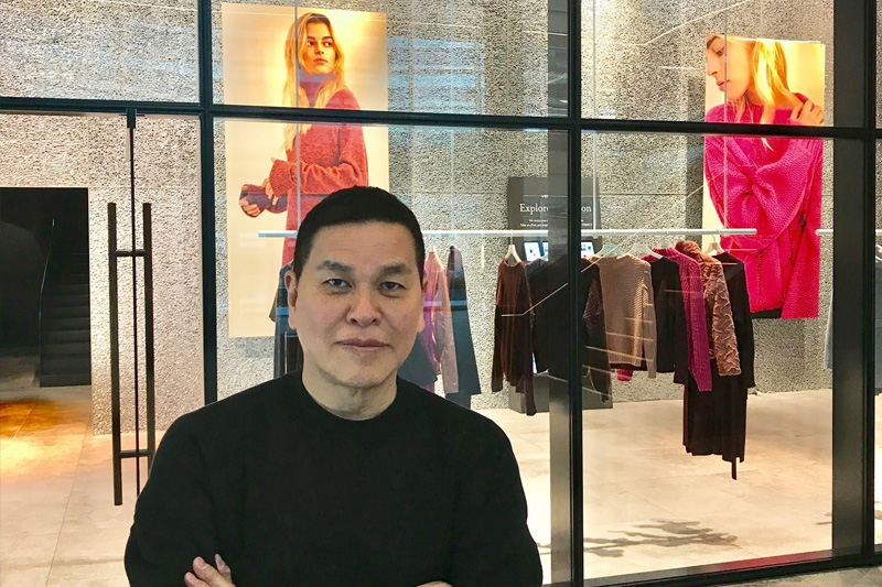 Ben Chan at the Vero Moda showroom: So much respect for Scandinavian aesthetics. At right, the brand's coolness that appeals to millennials.