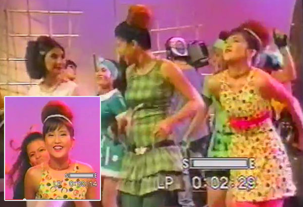 then ultimate 90s superstar jolina magdangal wearing all the colors of the rainbow in what appears to be somebodys acid trip - All The Colors Of The Rainbow Song