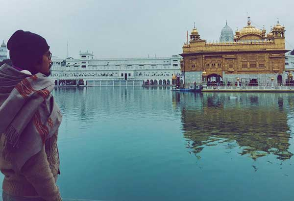 Nicky Daez, founder of Seabiscuit Films, takes in the high vibrations of the Golden Temple in Amritsar.