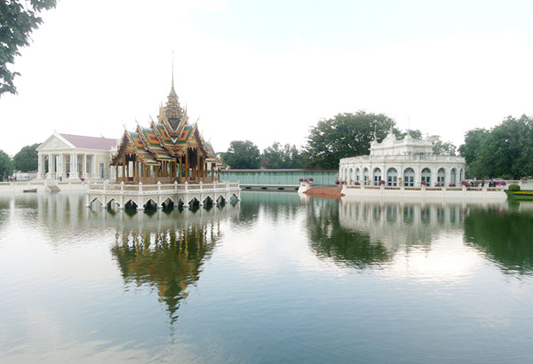 Some of the beautiful architecture at the Bang Pa-In Royal Palace