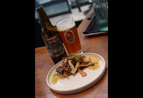 Nice to beef you: The Teikoku IPA shines next to 12/10's magnificently executed Wagyu course.Photo courtesy of Platform 360